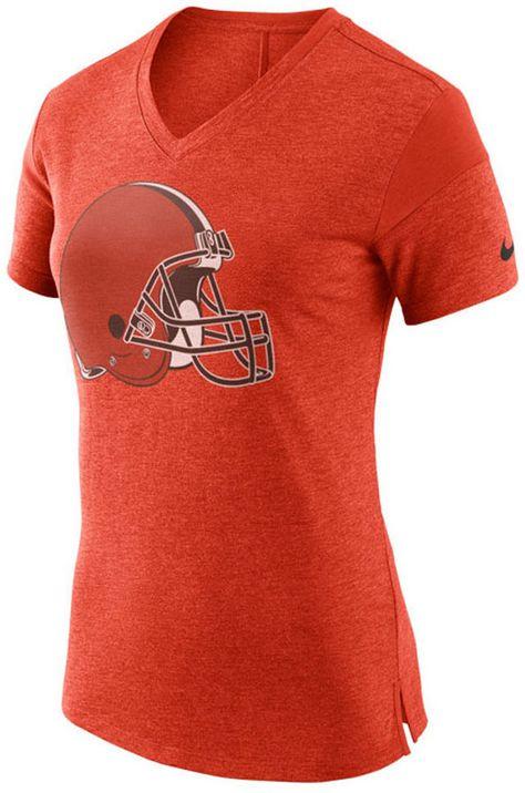 Nike Women s Cleveland Browns Fan V-Top T-Shirt  ba07875ca