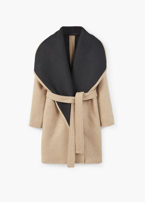 Colorblock Wrap Coat $74.99   Stitch Fix   Mango coats