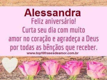 Feliz Aniversario Alessandra Feliz Aniversario Palavras De