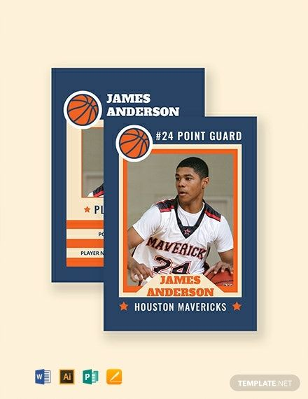 Free Sports Card Template Word Doc Apple Mac Pages Illustrator Publisher Baseball Card Template Card Template Cards