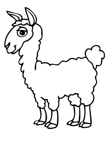 Cute Alpaca Coloring Page Unicorn Coloring Pages Coloring Pages