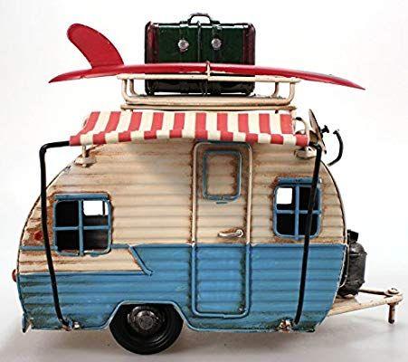 Wohnwagen Aus Metall Hellblau Mit Rahmen Und Spardose Camper Auto Oldtimer Nostalgie Wohnwagen Oldtimer Spardose