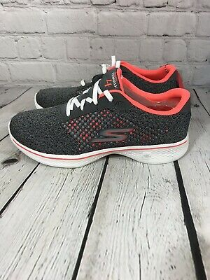 SKECHERS GO WALK 4 EXCEED, Women's Size 6.5, CharcoalCoral