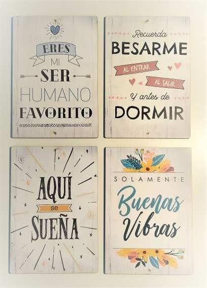 Cuadros Decorativos Frases Vintage Carteles Set 2 Unidades