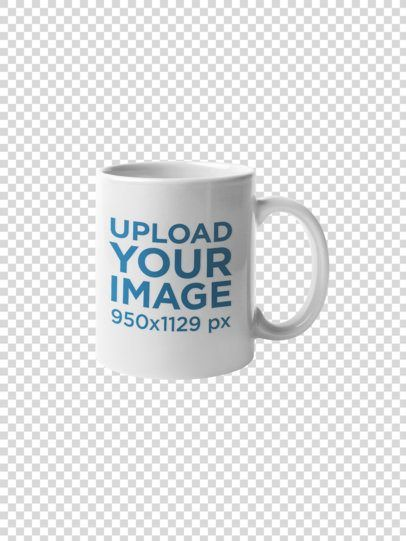 Placeit - Coffee Mug Mockup Against a Transparent Backdrop