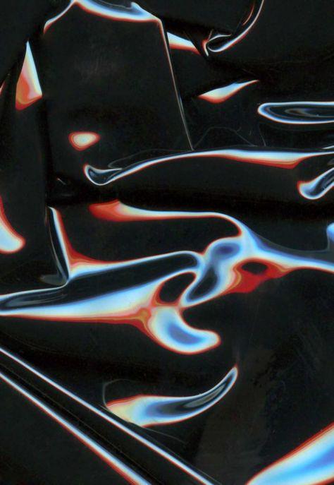 red black texture chrome organic iridescent graphic design trends