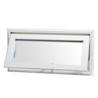 32 In X 16 In Awning Vinyl Window With Screen White Window Awnings Window Vinyl Awning Windows