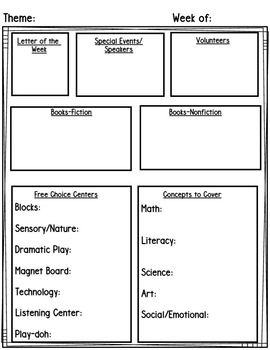 Preschool/Pre-K Lesson Planning Templates & Editable ...