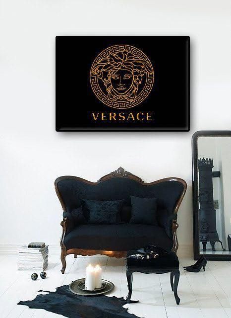 Versace Poster Printable Art Girl S Room Decor By Sashkamashka Interiordecorationposter Versace Furniture Versace Home Creative Home Decor