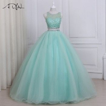 WiWiBridal 2018 Womens Sweetheart Beads Quinceanera Dresses Long Prom Ball Gowns for Sweet 16