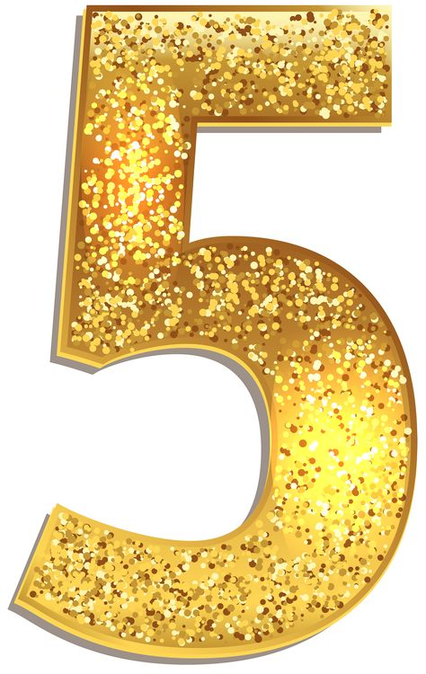 Number Five Gold Shining PNG Clip Art Image | Gallery Yopriceville - High-Quality Images and Transparent PNG Free Clipart