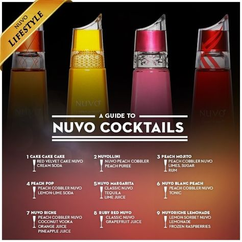 15 Nuvo Drink Recipes Ideas Yummy Drinks Cocktail Drinks Alcoholic Drinks
