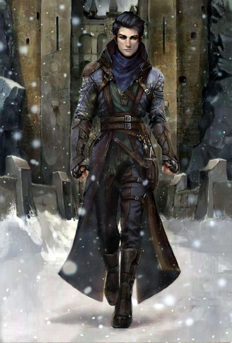 Pathfinder Kingmaker Young Male Human Thief Assassin V2