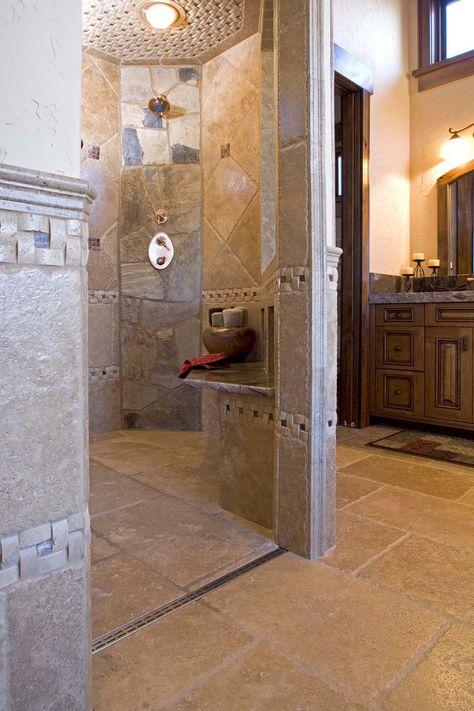 Residential Shower Tile Modern Shower Linear Drain Shower