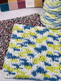 Ville blocs Dishcloth Knitting Pattern