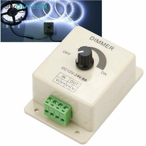 Led Strip Light Dimmer Switch 12v 8a 96w Pir Sensor Led Protect Strip Light Lamps Switch Dimmer Adjustable Brightness Controller With Images Led Strip Lighting Light Dimmer Switch Dimmer Switch