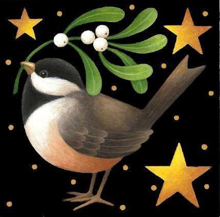Holiday Chickadee ~ by Stephanie Stouffer