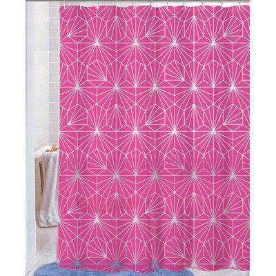 Ben And Jonah Royal Neon Telaraña PEVA Non Toxic Shower Curtain Color:  Fuchsia | Neon, Royals And Curtains