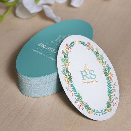 250 Custom Printed 2x3 5 Oval Hang Tags Great Etsy Etsy Business Cards Round Business Cards Plastic Business Cards