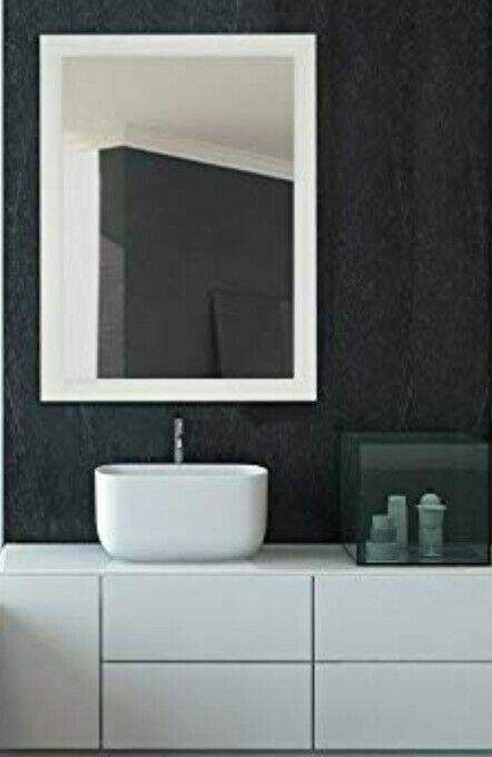 Large Frosted Edge Modern Rectangular Wall Mirror 30 W X 40