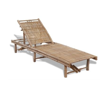 vidaXL Solid Acacia Wood Sun Lounger w// Side Table Daybed Chaise Outdoor Seat