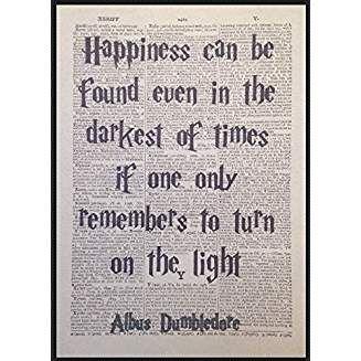 Page De Dictionnaire Vintage Avec Citation De Dumbledore De Harry Potter En Anglais Harry Potter Citation Dumbledore Harry Potter En Anglais