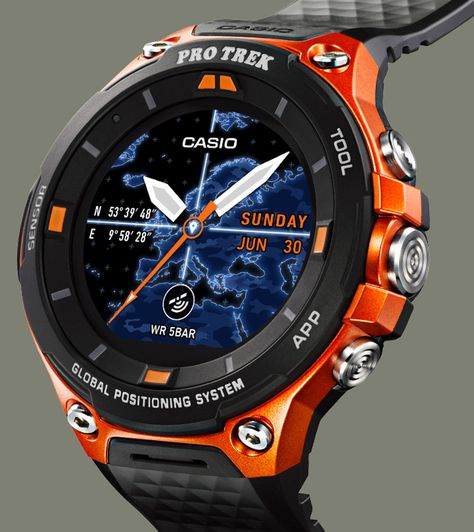 Casio Protrek Watches - Designed for Durability. Casio Protrek - Developed for Toughness Forget technicalities for a while. Let's eye a few of the finest things about the Casio Pro-Trek. Casio Protrek, Sport Watches, Cool Watches, Watches For Men, Gps Watches, Breitling Watches, Smartwatch, Radio Controlled Watches, Android Wear