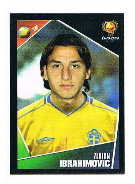 PANINI UEFA EURO 2004 Zlatan Ibrahimovic AUTOCOLLANT Nº 197