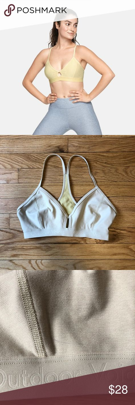 e2867eda87862 Outdoor Voices Steeplechase Bra Yellow SIZE M Outdoor Voices Steeplechase  Bra SIZE M Yellow light green color (no longer available on website) In  very good ...