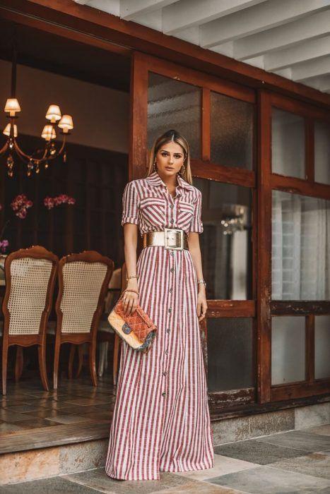 eda9cc0baaa 47+ Vestidos Largos de Moda para lucir Elegante y con Estilo (2019 ...