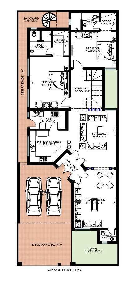 House Floor Plan By Ar Naqsh Jaffery 10 Marla House My House Plans House Floor Plans House Map