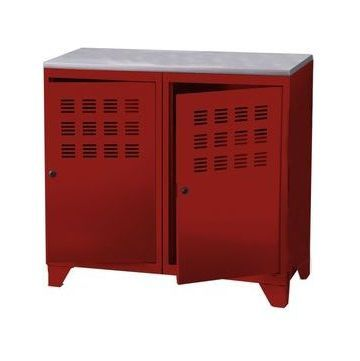 Armoire Metal 2 Portes Rouge Ph 202782 Locker Storage Storage Lockers