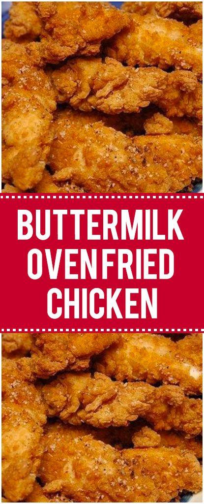 Buttermilk Oven Fried Chicken Buttermilk Oven Fried Chicken Best Fried Chicken Recipe Oven Fried Chicken