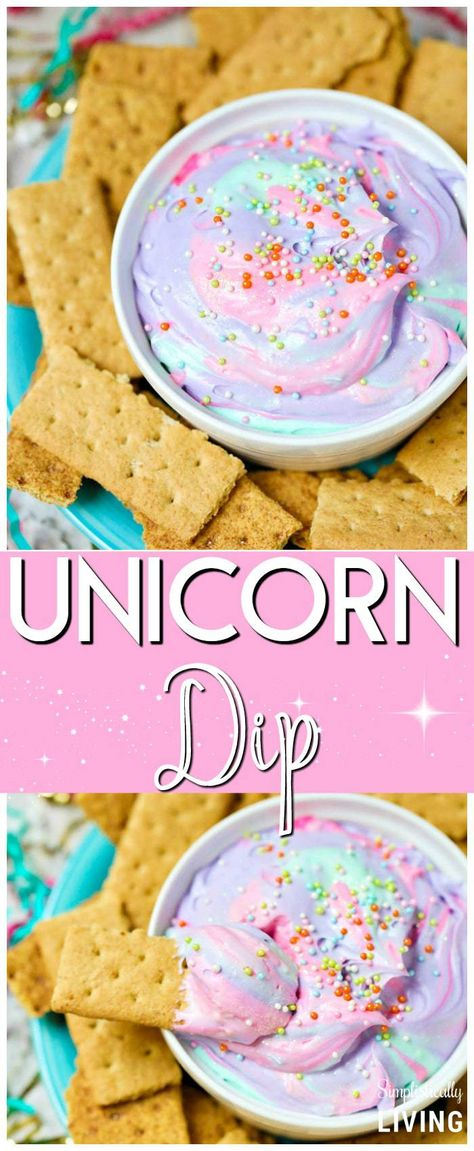 25 Magical Unicorn Themed Desserts - Smart Party Ideas <br> Make your party magical with these easy and delicious unicorn themed desserts. From cupcakes to popcorn these desserts are guaranteed to plase a crowd. Diy Party Snacks, Birthday Party Snacks, 1st Birthday Parties, Ideas Party, Birthday Ideas, Slumber Party Snacks, Party Food Kids, Birthday Food Ideas For Kids, Simple Party Food