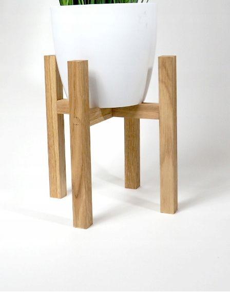 Kwietnik Drewniany Stojak Na Donice Skandynawski Karpia