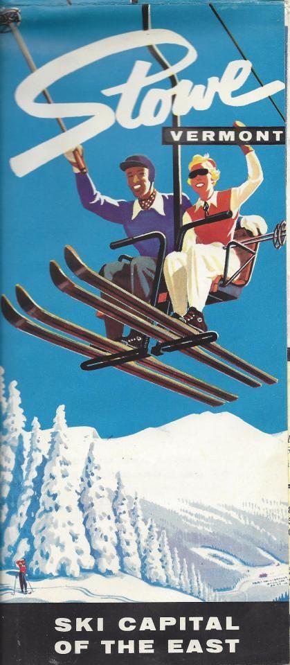 stowe vermont usa vintage ski ski