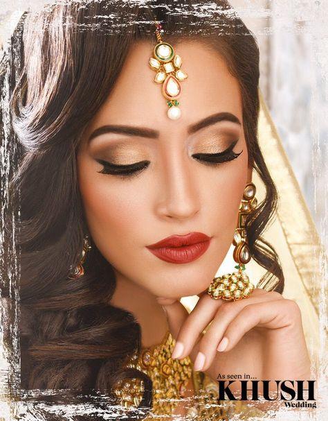 We just love this hair & makeup look created by Kajol Beauty Mua  +44(0)7958 355 941  Outfit: Tehxeeb London Jewellery: Deeya Jewellery