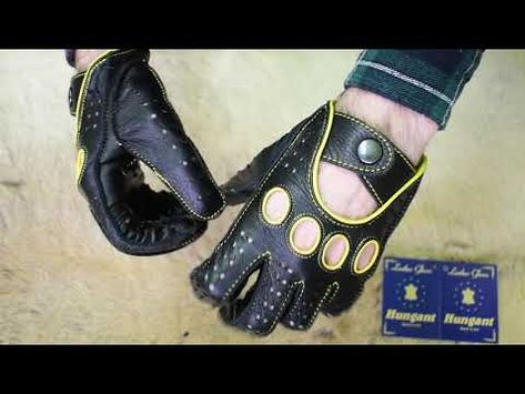 Handmade Men/'s Black Driving Gloves Deerskin Leather Blue Stitching and piping