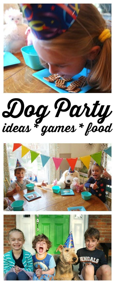 Planning a dog party? I'm sharing my favorite dog party ideas - including dog party games, the best dog party food, dog party decorations and (of course) the best dog party gifts! Great ideas for puppy and dog parties. StartSmart ad #doggamesforkids