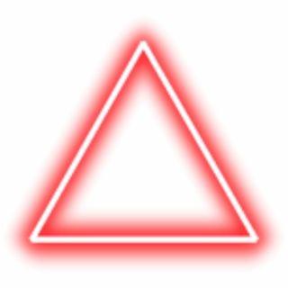 Neon Triangle Border Png Red Freetoedit Krasnyj Neonovyj Treugolnik Png Banner Shablon Bannera Treugolniki