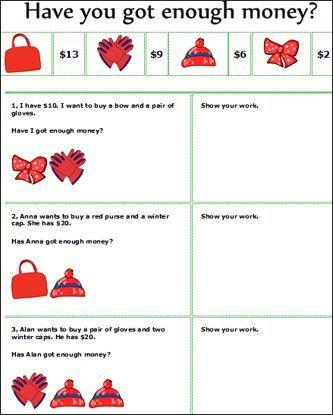 Real Life Math Worksheets Money Math Money Math Games Math Worksheets