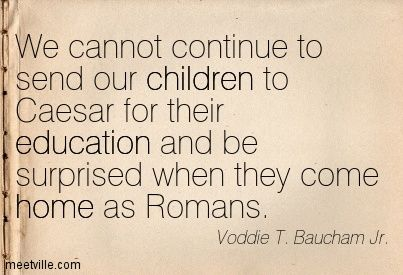 Image result for we cannot continue to send our children to caesar