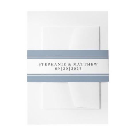 Elegant Dusty Blue Border Wedding Suite #elegantwedding #dustyblue #frame #elegant #chicwedding #calligraphy #typography #simple #borders #mailing