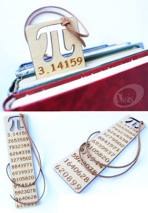 Pi Symbol Bookmark Wooden Bookmark Bookmark Gift Laser By Oksis