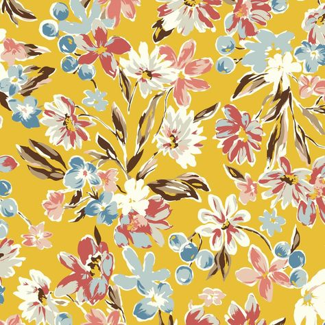Morriah Grande floral fabric design to custom print on the ground fabric you choose. Pick a color, the ground fabric and quantity you need. Suitable for apparel, home decorating, quilting and more.