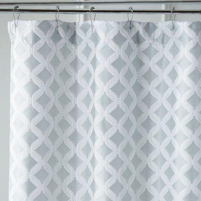 Links Geometric Seaglass Shower Curtain Geometric Shower Curtain