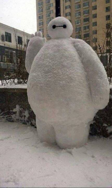 Remember to wrap up warm when outside in the snow.