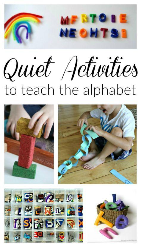 Quiet Time Alphabet Activities