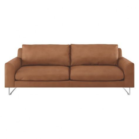 Lyle Tan Premium Leather 3 Seater Sofa Sofa 3 Seater Sofa 2