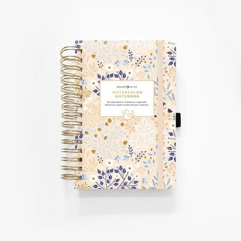 Watercolor A5 Blush A Bye Spiral Dot Grid Notebook Dot Grid